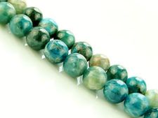 Picture of 8x8 mm, round, gemstone beads, apatite, light green-blue, natural