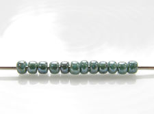 Picture of Japanese seed beads, Toho, size 11/0, opaque turquoise, blue marbled