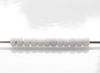 Picture of Japanese seed beads, Toho, size 11/0, light grey, frosted, opaque luster