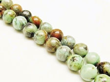 Picture of 8x8 mm, round, gemstone beads, African turquoise, natural