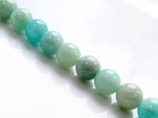 Picture of 8x8 mm, round, gemstone beads, amazonite, natural, A-grade
