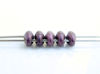 Picture of 5x2.5 mm, SuperDuo beads, Czech glass, 2 holes, opaque, metallic suede, saturated 'pink' purple