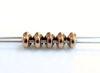 Picture of 5x2.5 mm, SuperDuo beads, Czech glass, 2 holes, metallic, gold bronze