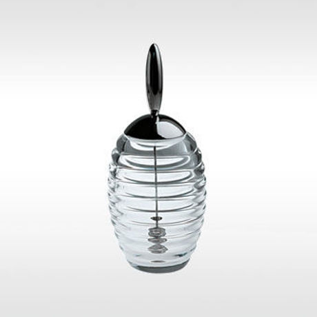 Afbeelding van Alessi, Honey pot, honingpot met dipper, Theo Williams, 1995