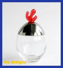 Picture of Alessi, Ovolini, spice pot with red knob, Joanna Lyle, 1995