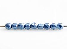Afbeelding van 2x2 mm, Tsjechische kralen, soep van verschillende ronde vormen, blauwsteen of blauwgrijs, ondoorzichtig, verzadigd metaalkleur