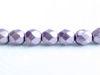 Image de 6x6 mm, perles à facettes tchèques rondes, nacre pourpre ou pourpre argenté, opaque,  or suédé