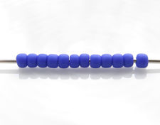 Picture of Japanese seed beads, Toho, size 11/0, navy blue, opaque, matte