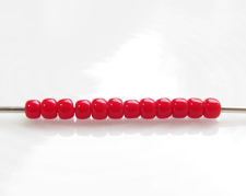 Picture of Japanese seed beads, Toho, size 11/0, pepper red, opaque