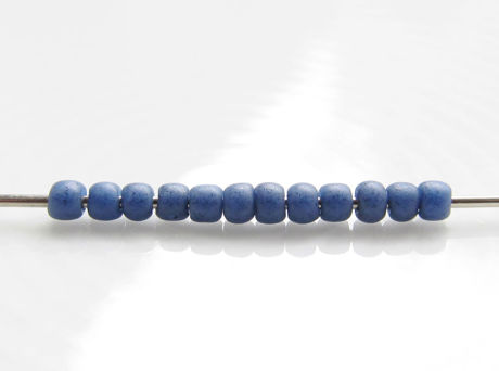 Picture of Japanese seed beads, Toho, size 11/0, soft blue, opaque, semi glazed