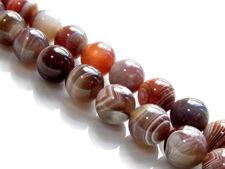 Image de 10x10 mm, perles rondes, pierres gemmes, agate du Botswana, naturelle, qualité A