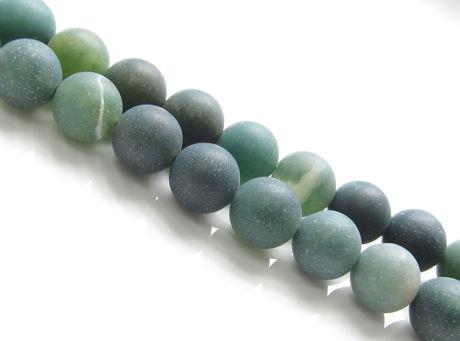 Afbeelding van 8x8 mm, rond, edelsteen kralen, mosagaat, groen, natuurlijk, mat