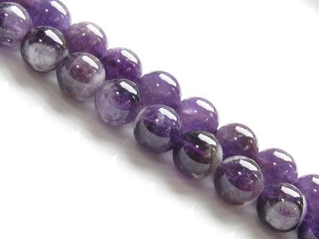 Image de 10x10 mm, perles rondes, pierres gemmes, agate sauge améthyste, naturelle